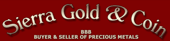 Sierra Gold and Coins - Buyer & Seller of Precious Metals located in Nevada County, California in the Gold Country. Serving Grass Valley, Nevada City, Penn Valley, Rough & Ready, Smartsville, Downieville, Washington, Colfax, Allegheny and surrounding areas.