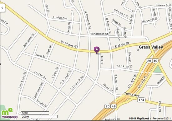 Map of 203 W.Main Street, Grass Valley, CA